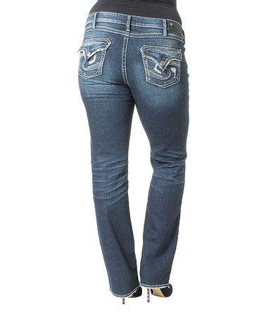 Look what I found on #zulily! Indigo Medium Wash Aiko Straight-Leg Jeans - Plus by Silver Jeans Co. #zulilyfinds