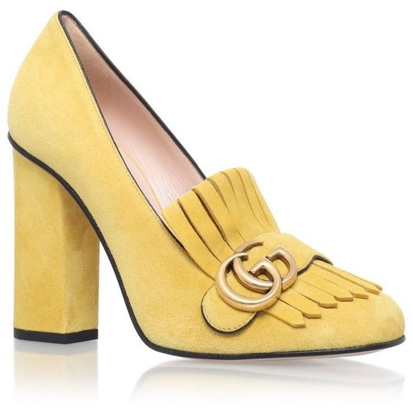 Gucci Marmont Fringed Loafer Heel