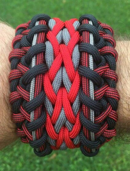 Wide Modified Sanctified Paracord Bracelet | Cool Paracord