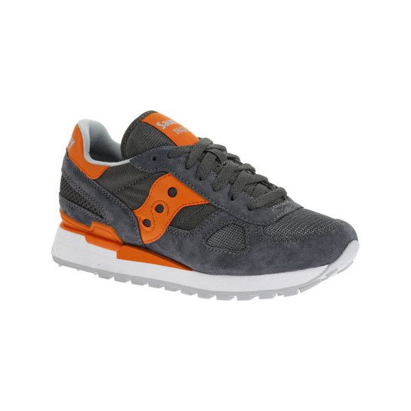 Women's Saucony Shadow Original Sneaker - Charcoal/Orange Athletic ($70) ❤  liked on · Saucony ShadowGrey ShoesShoes ...