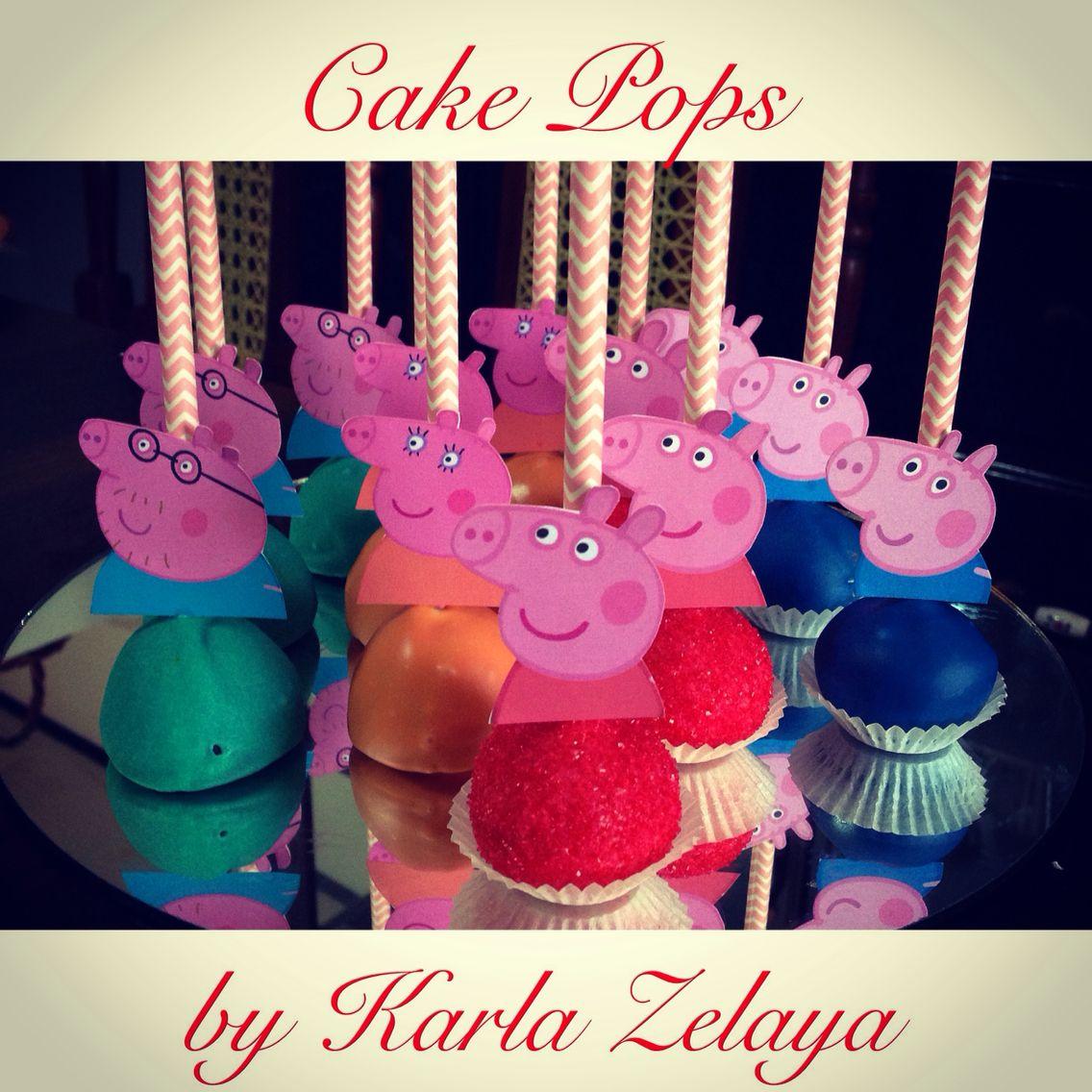 Peppa Pig Cake Pops Nuevas Pig Birthday Papa Pig
