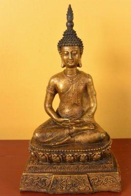 Estatua de bronce Birmano Buda