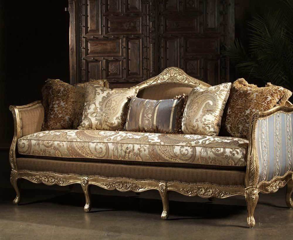 French furniture sofa - French Style Sofa Leather And Upholstered Furniture High Style Leather And Fabric Sofa