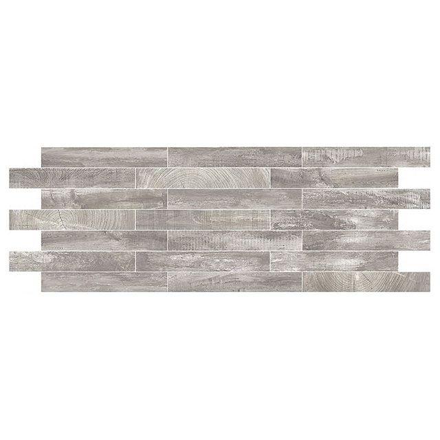 carrelage sol et mur gris 15 x 90 cm chalet castorama maison d co pinterest murs gris. Black Bedroom Furniture Sets. Home Design Ideas