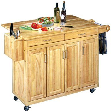 Home styles 5023-95 wood top kitchen cart