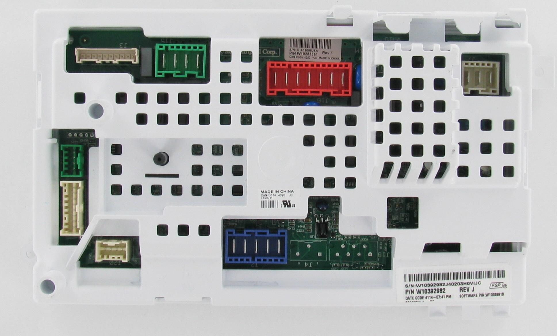 Whirlpool kenmore w10392982 laundry washer control board