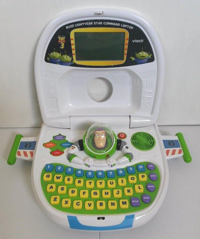 Buzz Lightyear Toy Story 3 Star Command Vtech Laptop Kids Girls