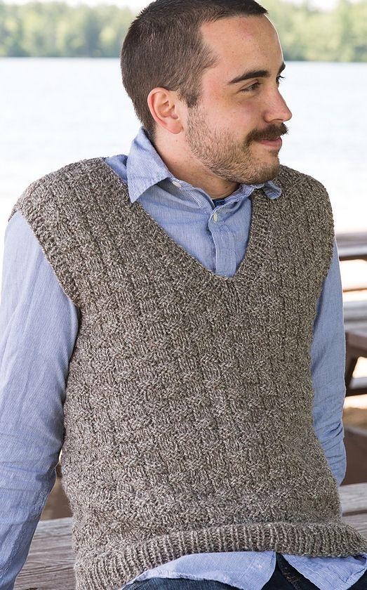 Knitting Pattern Burlington Men\'s Vest - #ad This looks easy but ...
