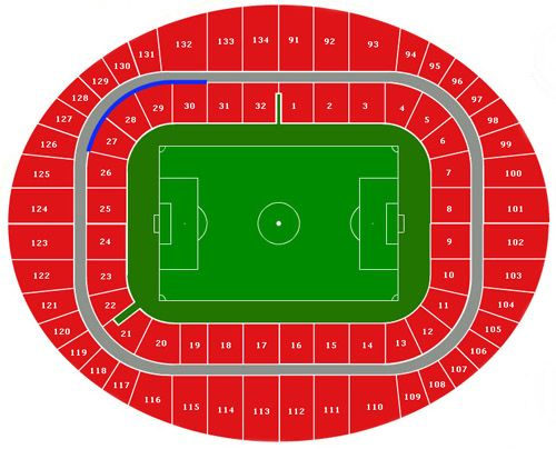 Manchester City Stadium Seating Map