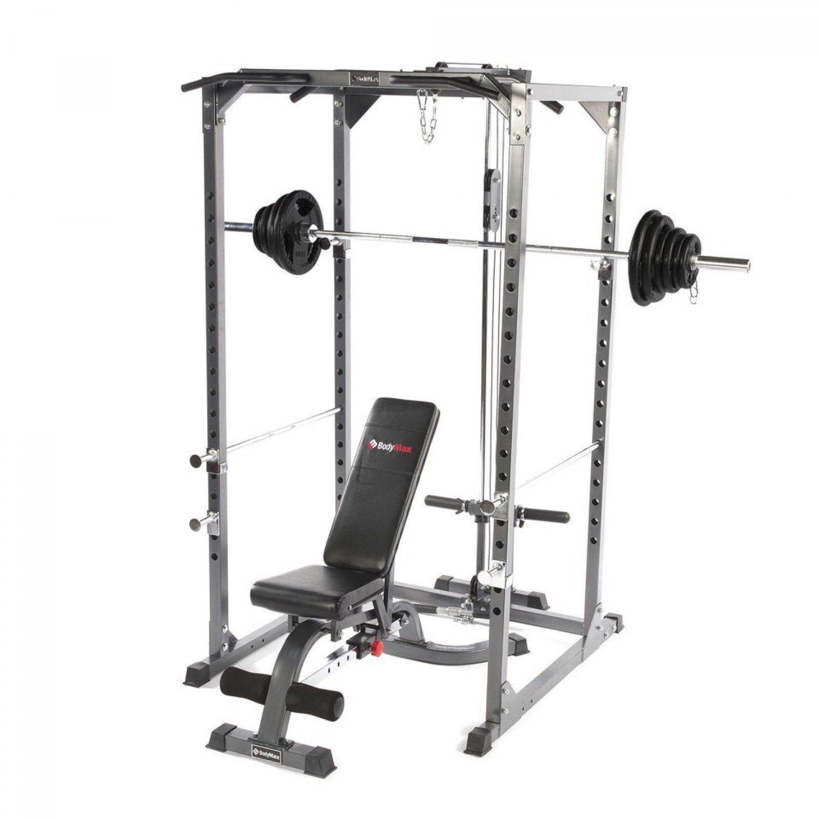 Bodymax Cf375 Elite Strength Package Squat Rack Pulley