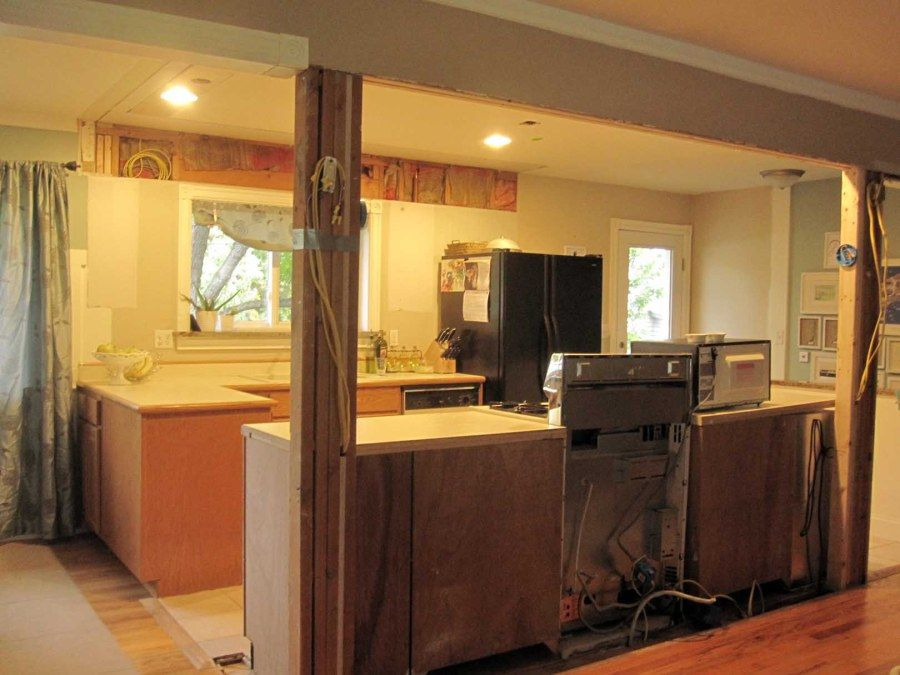 Galley Kitchen Remodel Remove Wall before and after kitchen wall removals | this is an image for and