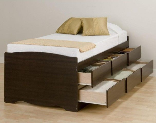 Storage Ideas For Small Bedrooms Wooden Bed Frame With Drawers