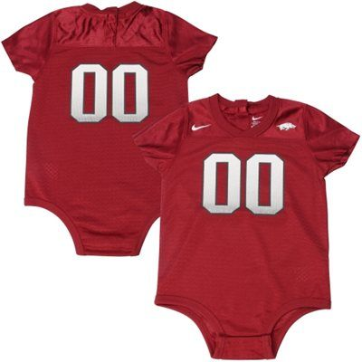 Arkansas Razorbacks Nike Infant Football Jersey Creeper Cardinal Nike Newborn Arkansas Apparel Cute Baby Clothes