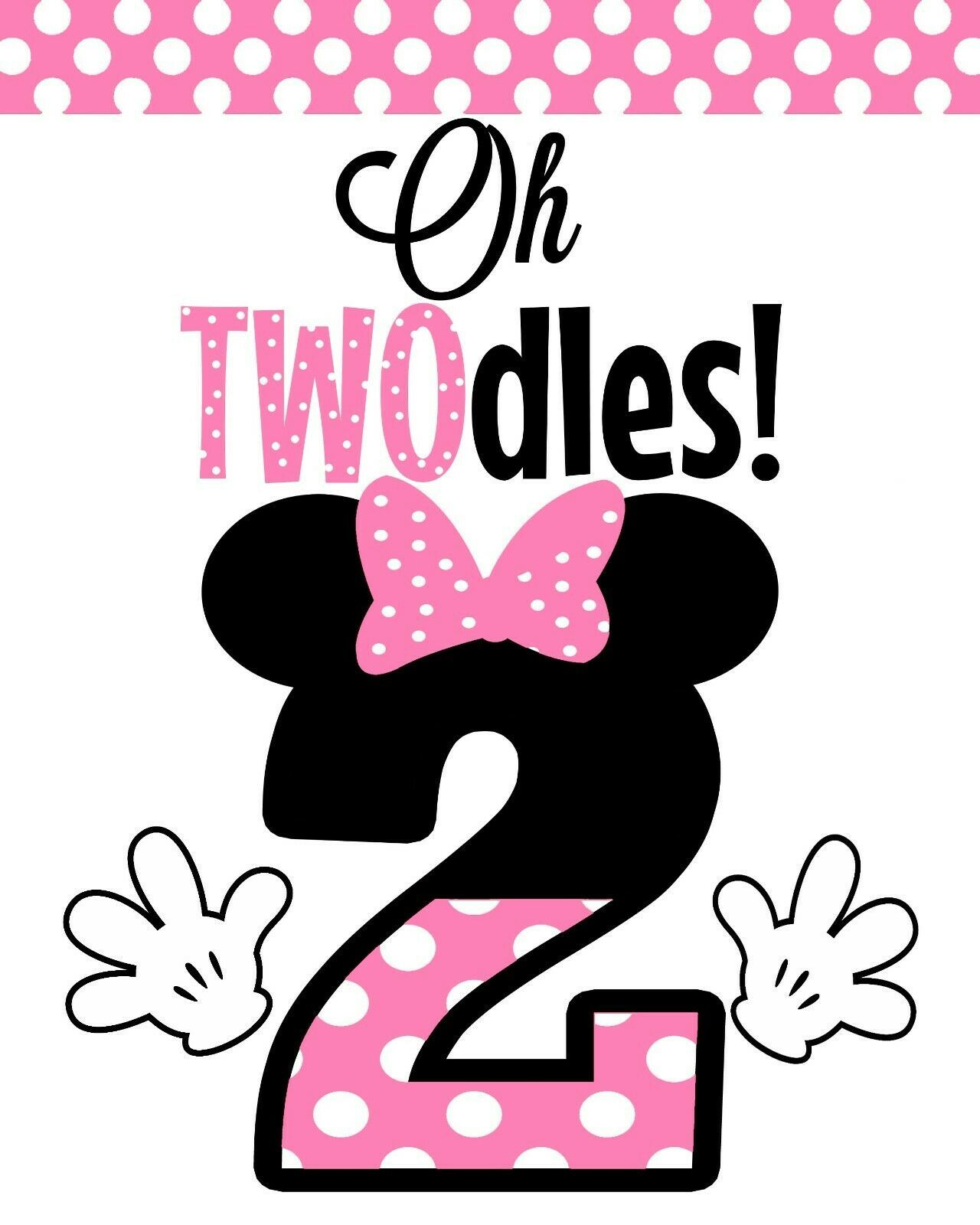 Disney minnie mouse 2 stand up oh twodles cardstock 8