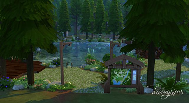 Itseveysims The Sims 4 Community Lot Granite Falls Lake Sims Huis Sims 4 Sims
