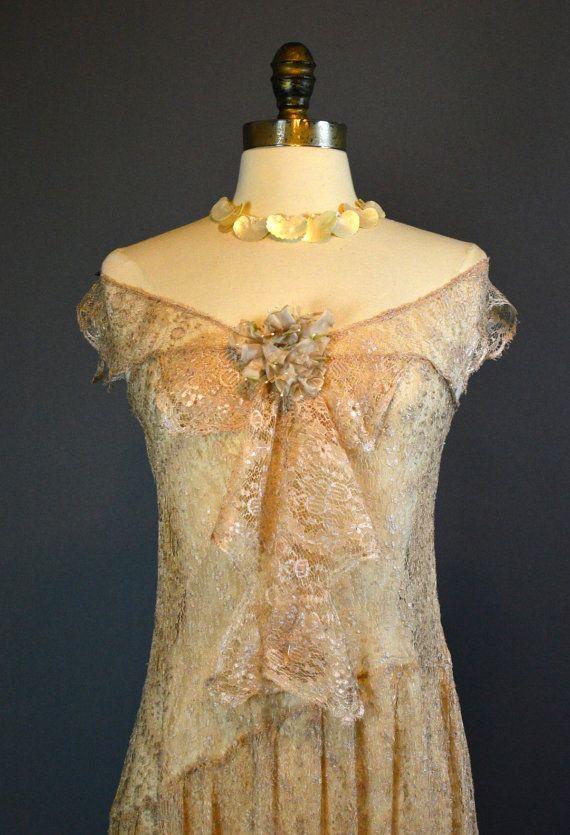 The Blushing Bride Vintage 20s Wedding Dress & by labellevintage