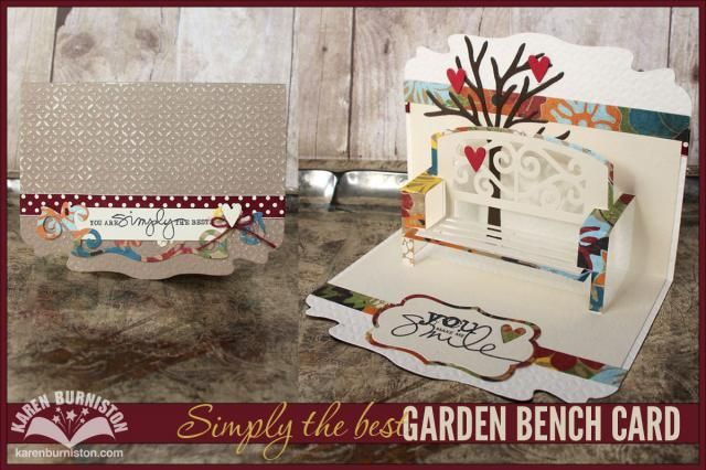 Karen Burniston Simply The Best Garden Bench Card Elizabeth