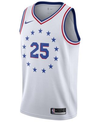 bef07d87241 Nike Men s Ben Simmons Philadelphia 76ers Earned Edition Swingman Jersey -  White M