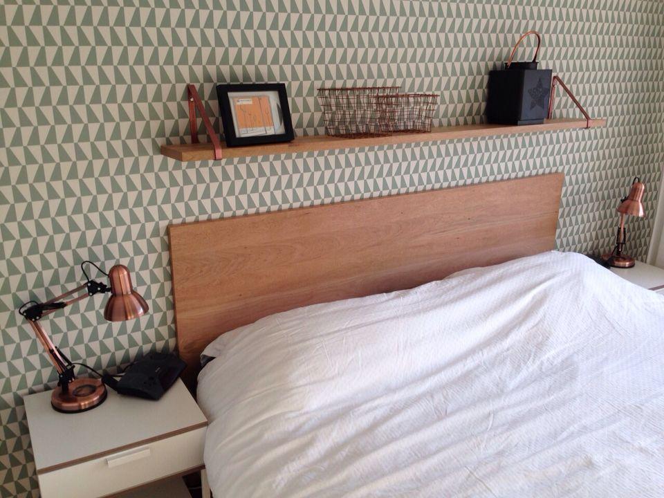 blij met de metamorfose van onze slaapkamer! plankdragers van, Deco ideeën