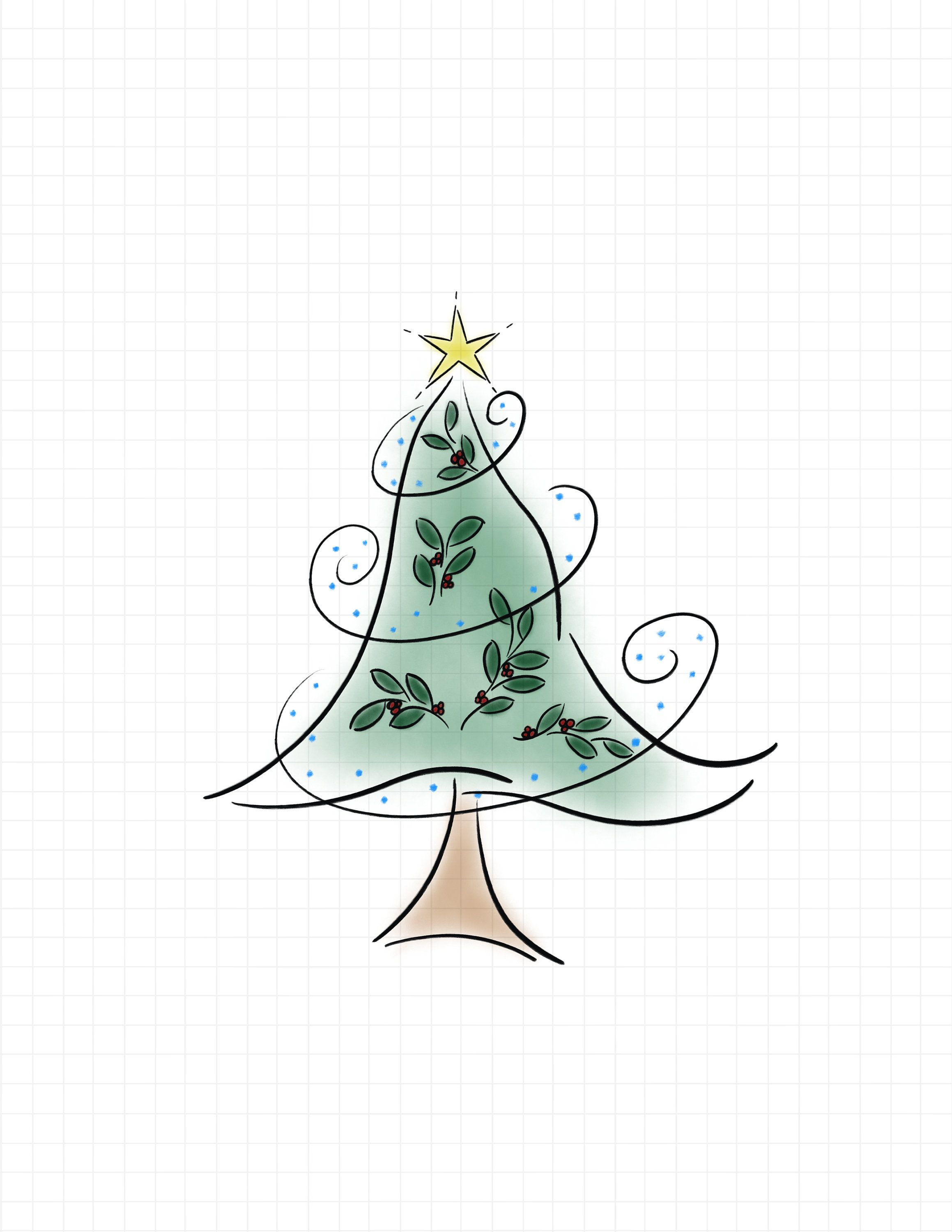 Christmas Tree Clipart Sublimation Graphic Whimsical Etsy In 2020 Christmas Tree Clipart Christmas Tree Drawing Whimsical Christmas Trees