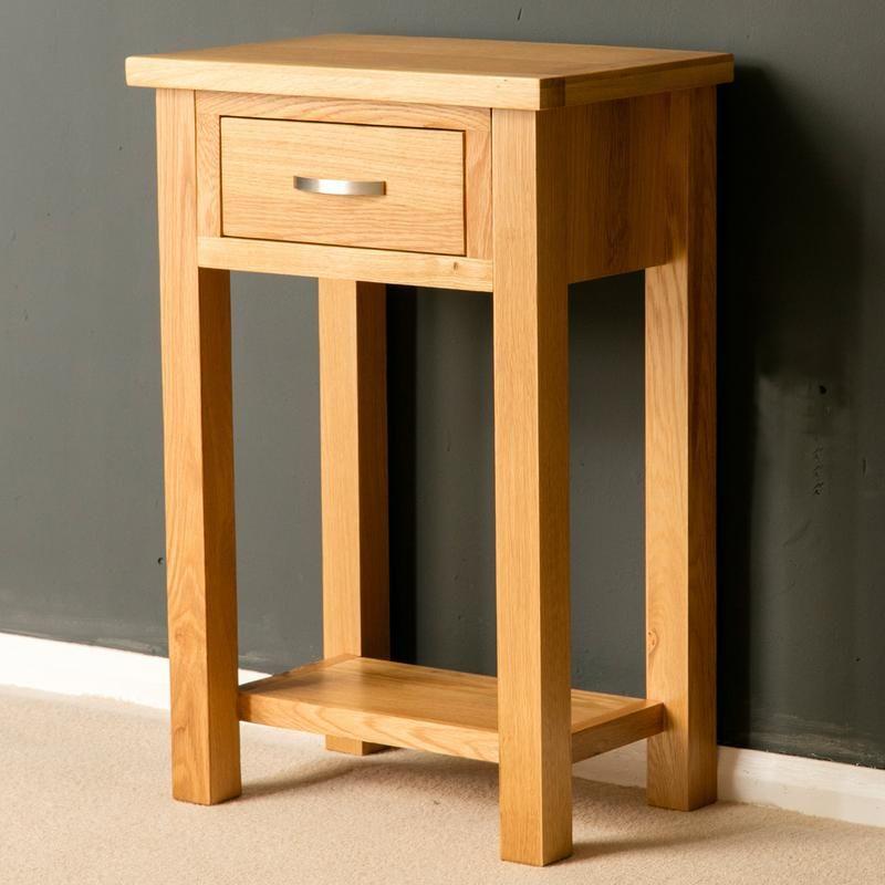 Light Oak Hall/telephone Table From Our London Oak Furniture Range.