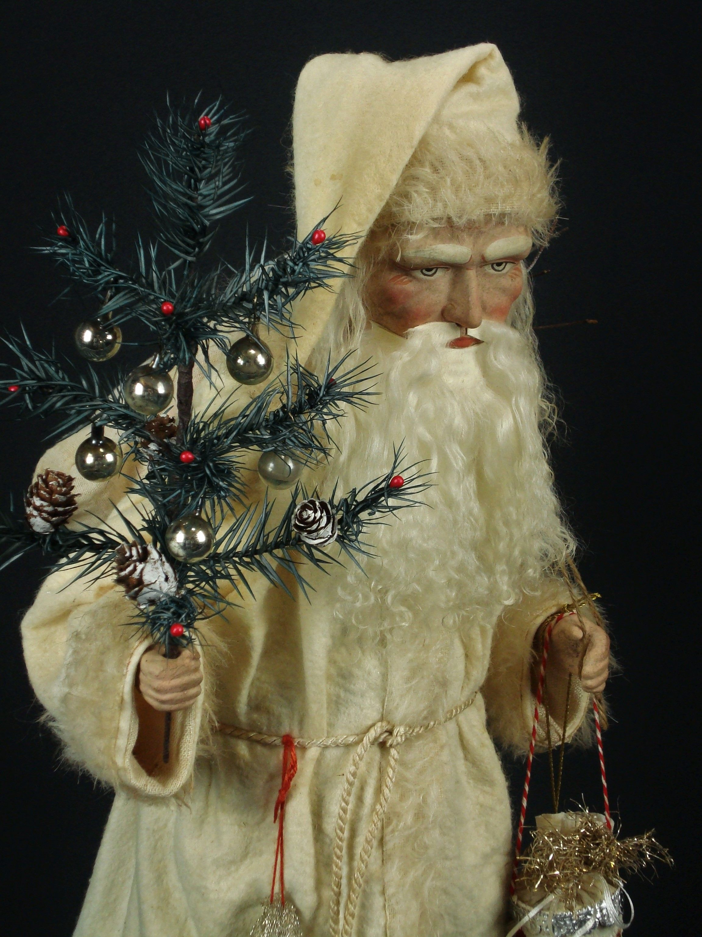19 inch Paper mache *German Santa* candy container by Paul Turner studio