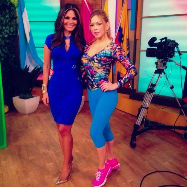 #Colombianas @claudiamolinafitness con @nataliacruznews en @despiertaameric