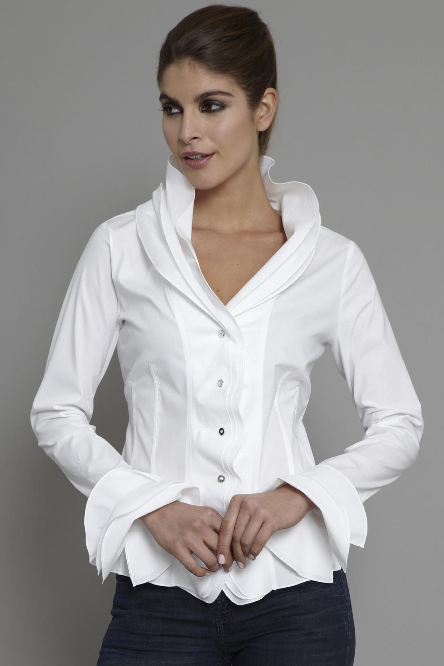 Free shipping BOTH ways on Shirts & Tops, White, Women, from our vast selection of styles. Fast delivery, and 24/7/ real-person service with a smile. Click or call