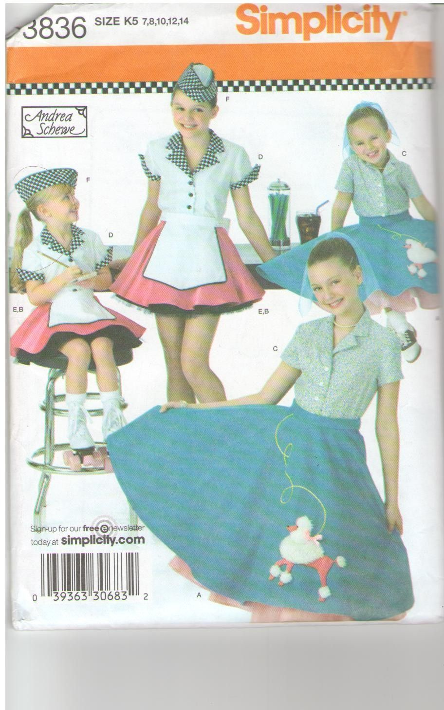 Simplicity Pattern 3836 | Dress Up To Learn! | Pinterest