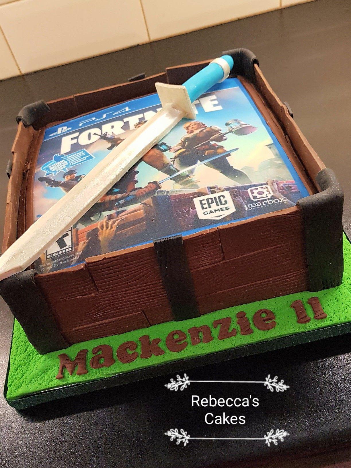Fortnite PS4 Cake Fiesta cumpleaños, Pastel de