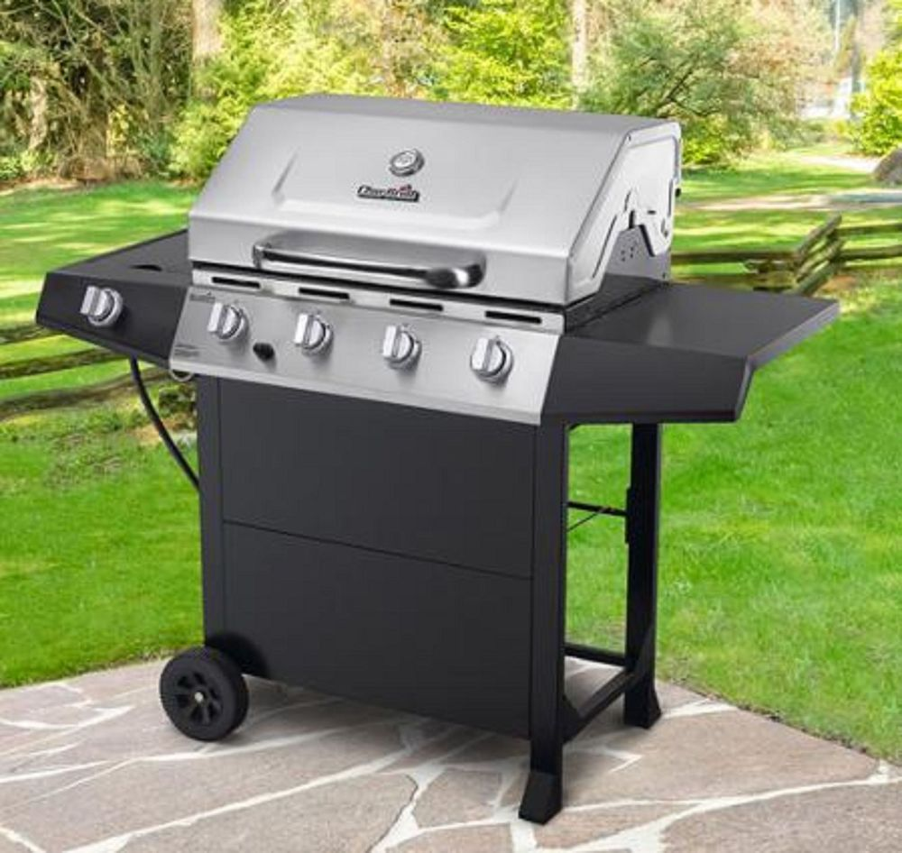 gas grill cooking outdoor bbq propane stainless steel 4 burner