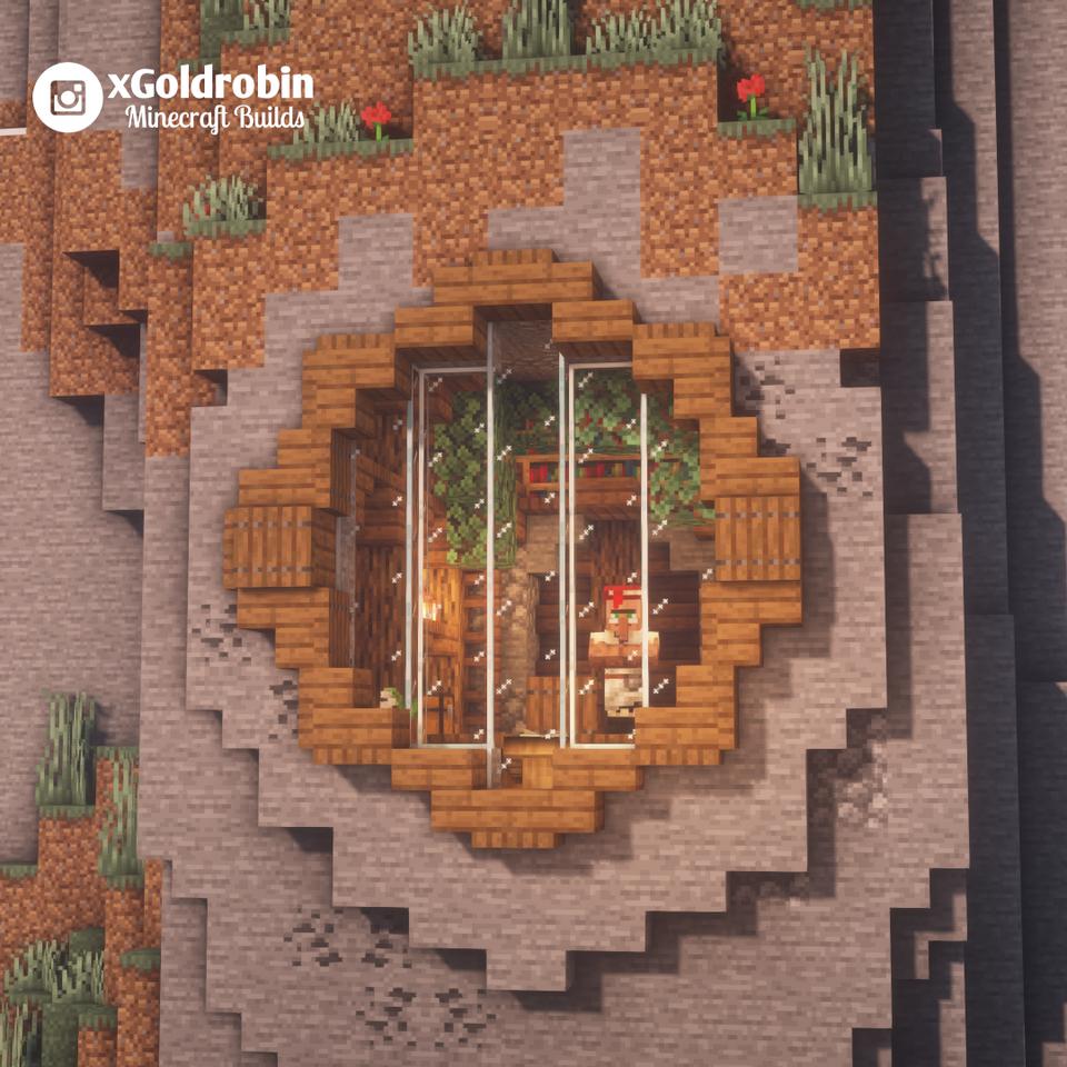 House In The Mountain Casas Minecraft Ideias De Minecraft