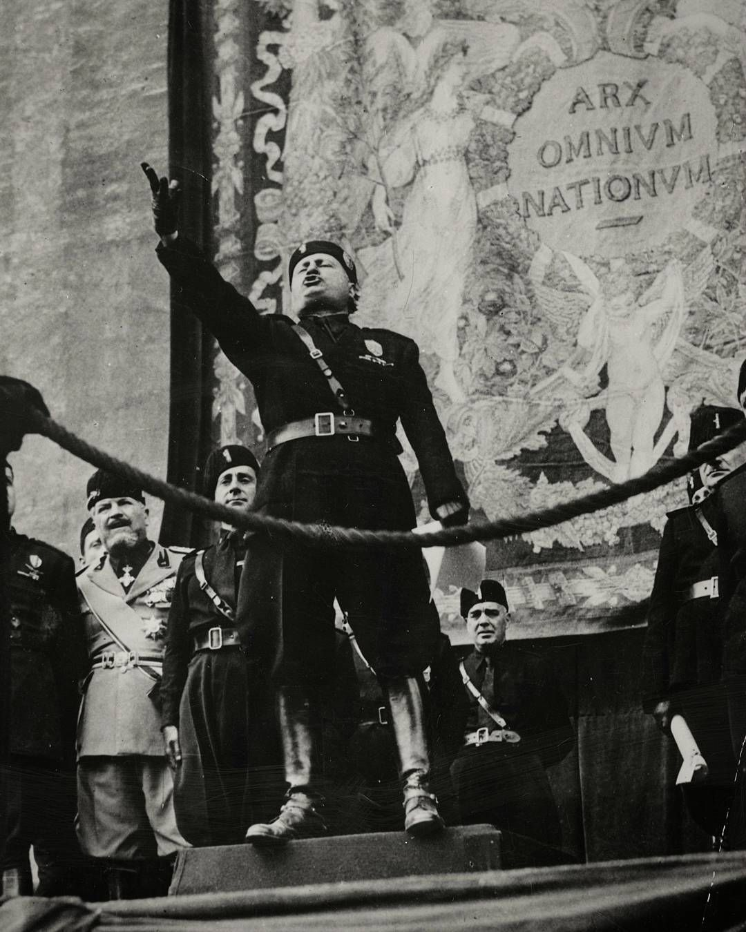 On this day in history April 28th 1945 Benito Mussolini il Duce and his  mistress Clara Petacci are executed by a firing squad.