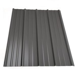 Metal Sales 12 Ft Classic Rib Steel Roof Panel In Charcoal 2313417 At The Home Depot Tablet Steel Roof Panels Roof Panels Metal Roof Panels