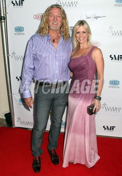 at jane seymour's art exhibit in hollywood with william