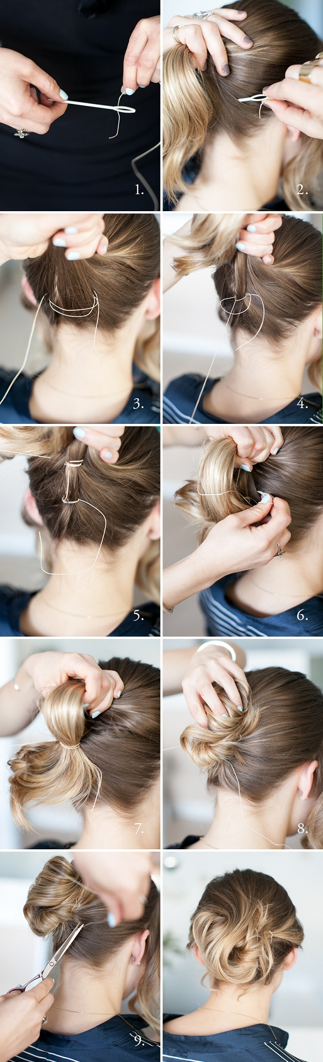 Uncommon Way To Make a Bun   The Sew It Up Updo   AllDayChic   Diy ...