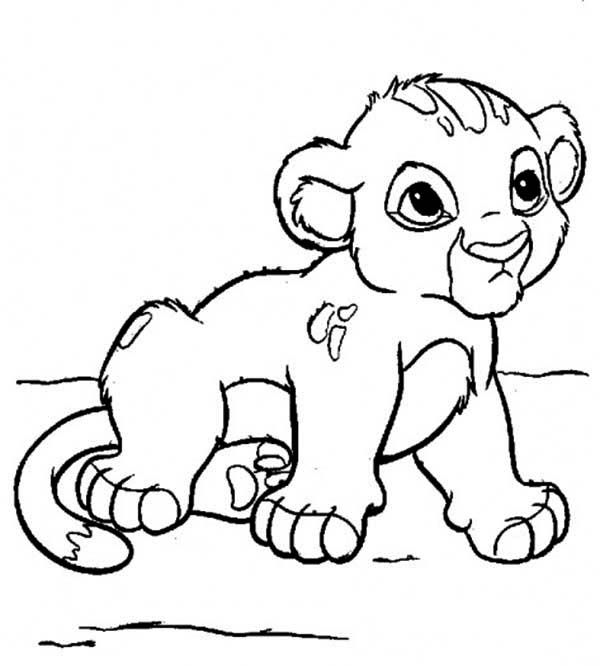 Baby Simba Coloring Pages Lion Coloring Pages Lion Illustration Coloring Pages