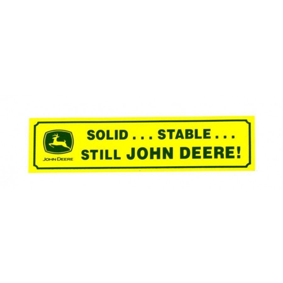 Bumper sticker design ideas - John Deere Solid Stable Bumper Sticker Rungreen Com