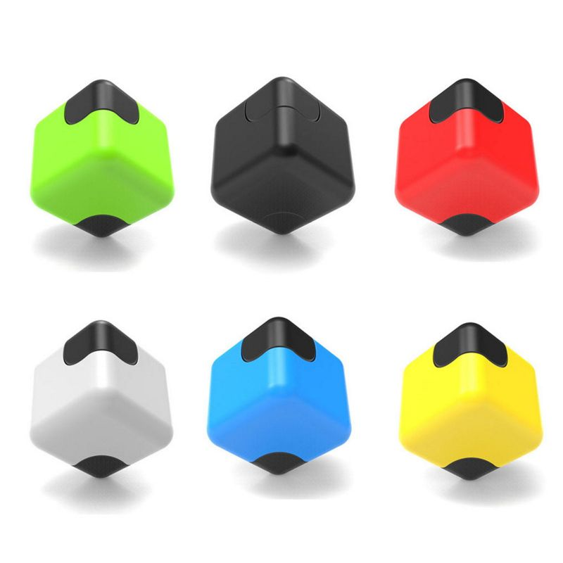 Colorful Cube Dice Gyro Square Finger Gyro Fidget Spinner Stress Cube Plastic Hand Spinners EDC Toy Anti Stress Toys #E #Affiliate
