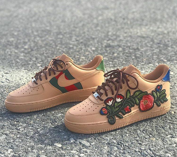 Gucci Custom Nike Air Force 1 Nike air, Nike, Shoes