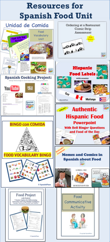 Spanishplans Spanish Food Unit Learning Spanish For Kids Spanish Lessons For Kids