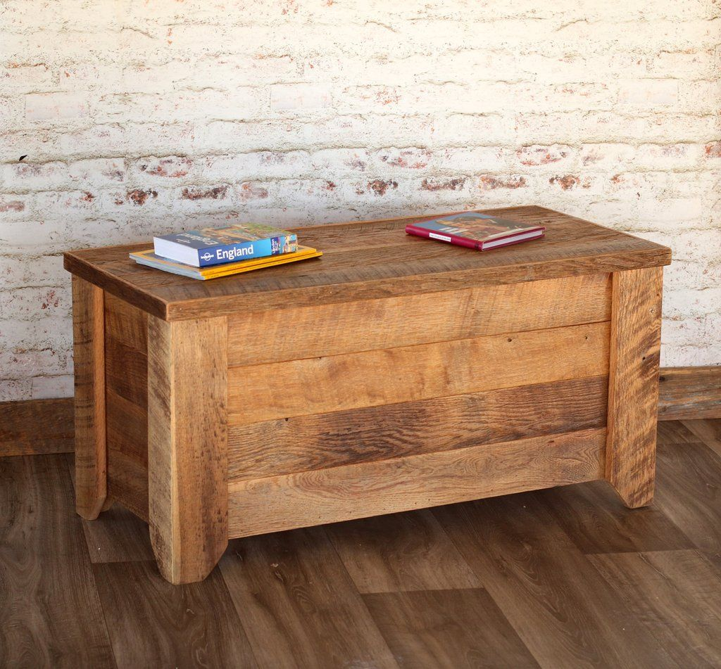 Coffee Table Storage Trunk Reclaimed wood furniture