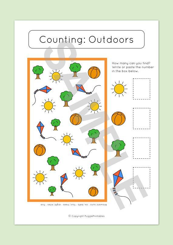 Printable Counting Worksheet For Preschoolers And Toddlers