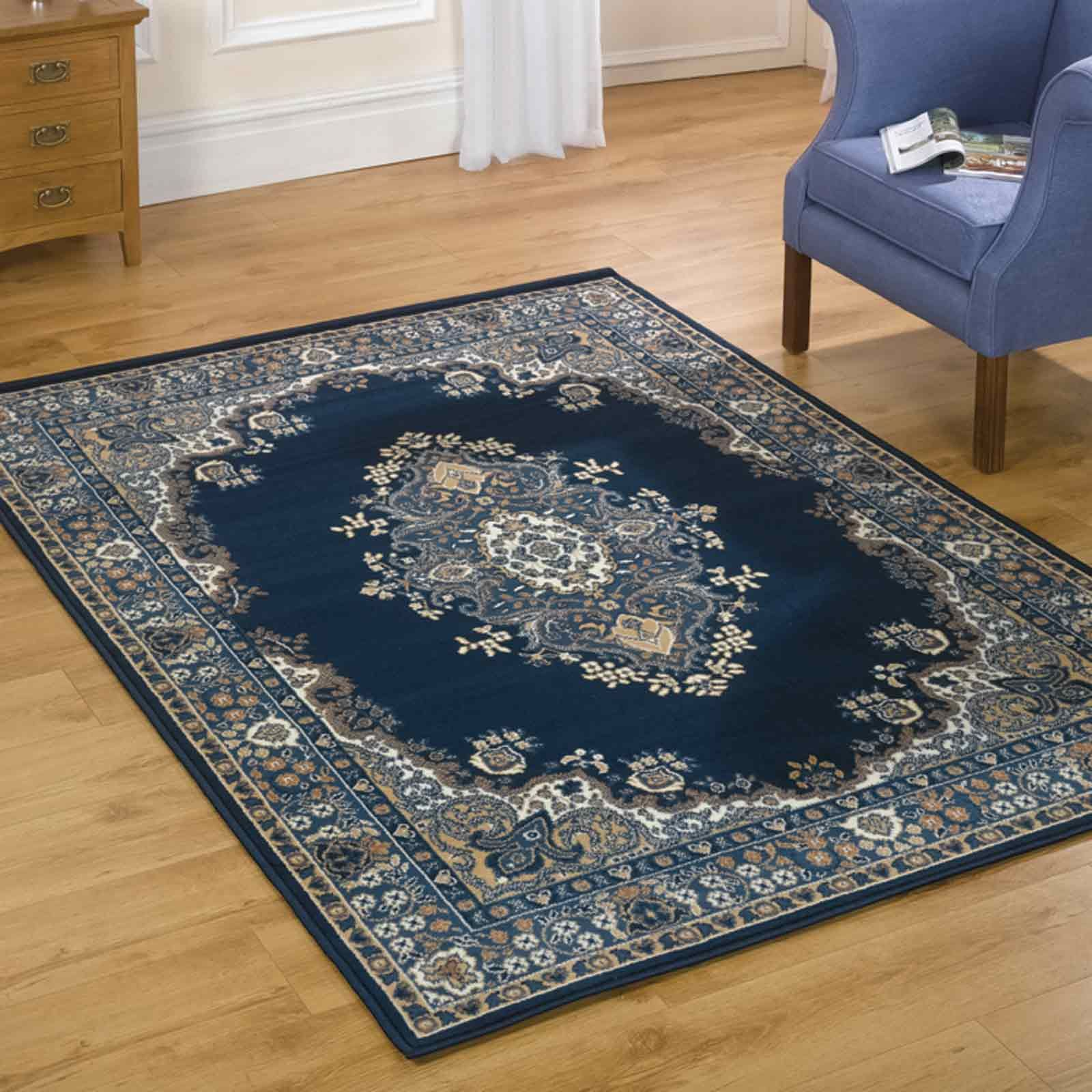 Lancaster Traditional Rugs In Navy Free Uk Delivery Traditional Rugs Rugs On Carpet Buying Carpet