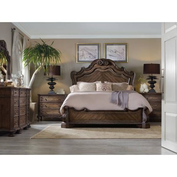 Bedroom Furniture Houston Texas rhapsody king panel bed | hooker furniture | star furniture