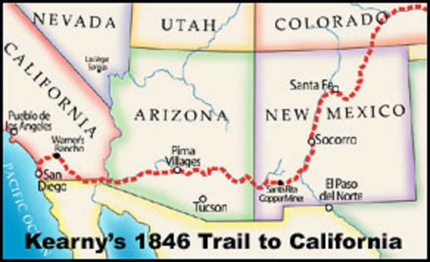 Map Of Kearny Arizona.November 1846 Reinforcements Arrive General Kearny With A Much