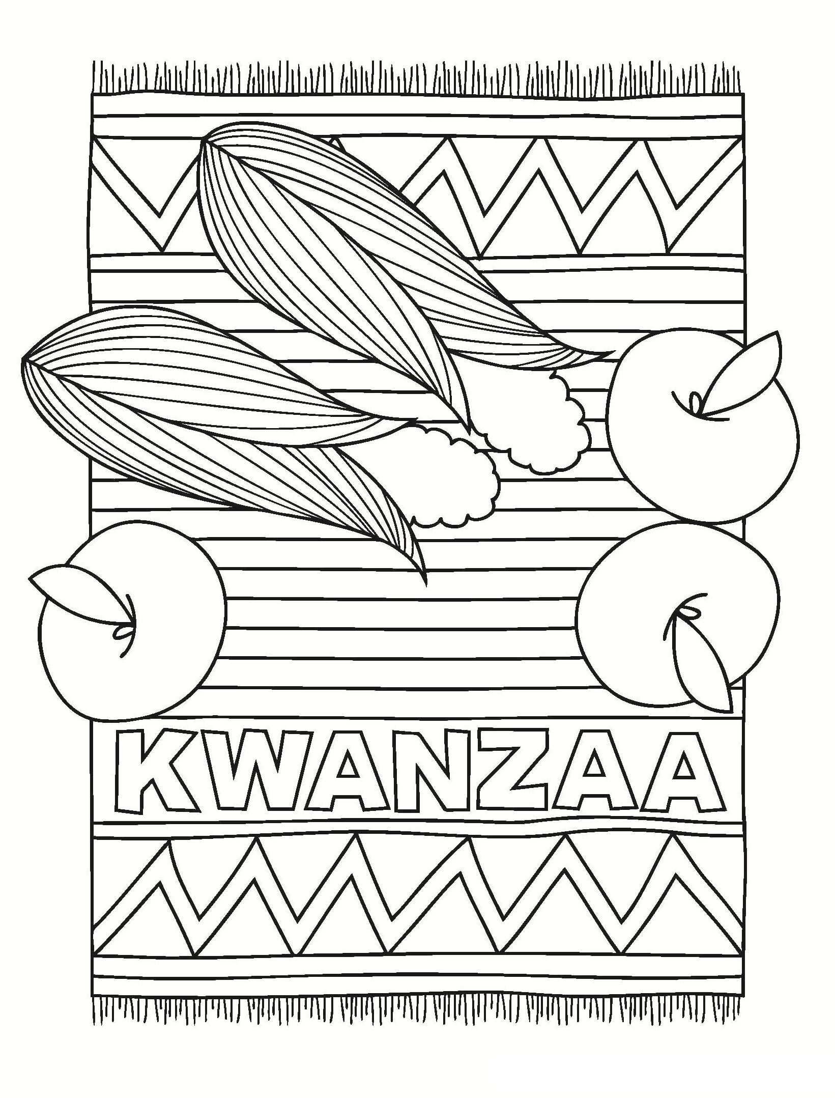Kwanzaa Rug And Fruits