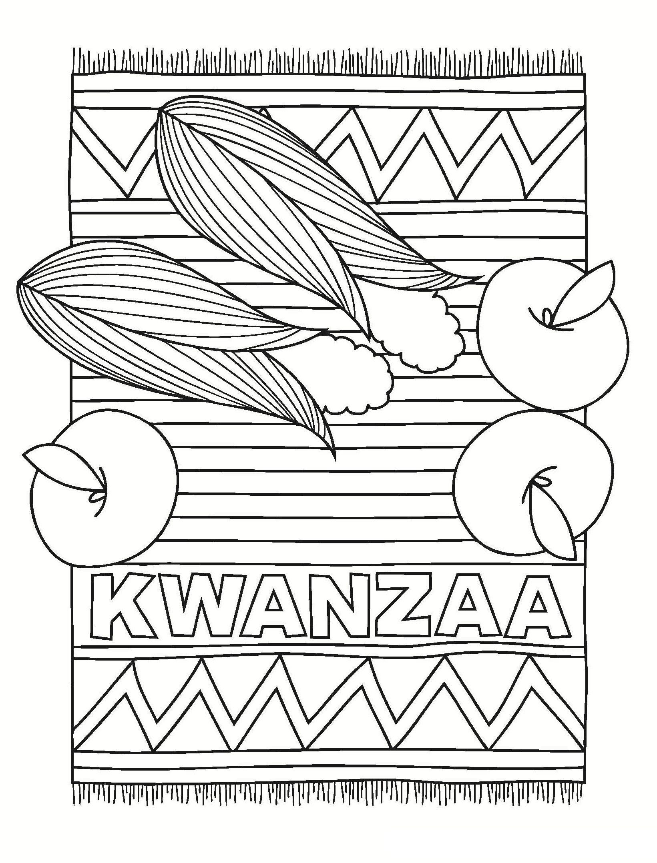 Kwanzaa Rug And Fruits