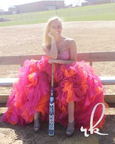 prom dress softball senior picture - Google Search