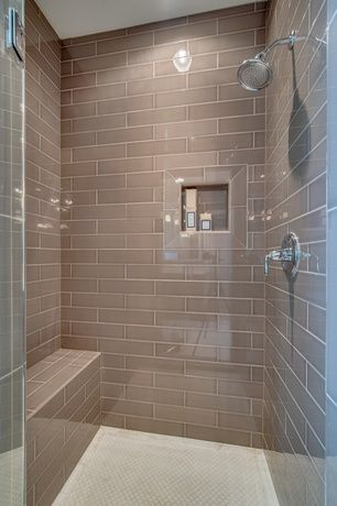 Taupe Subway Tile Bathrooms In 2019